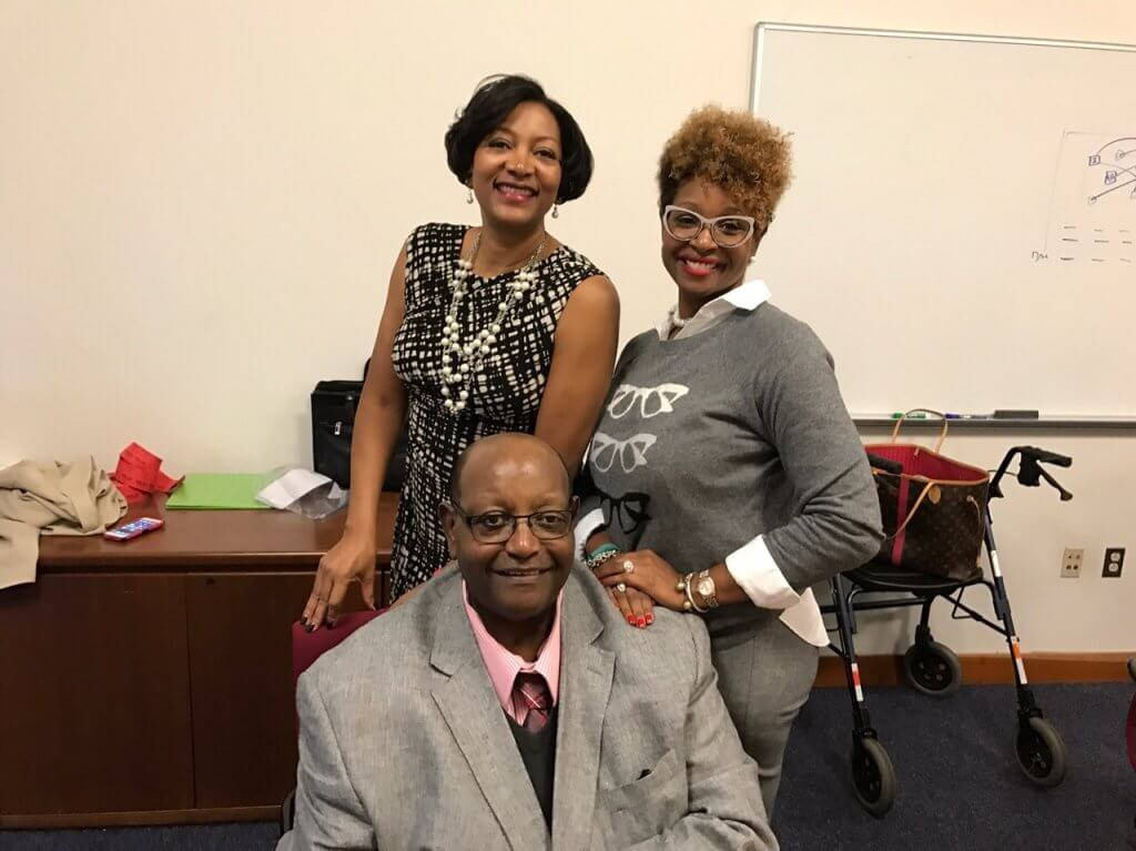 Wendell Johnson with Daughters